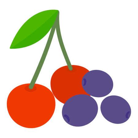 Fresh berry icon, isometric style