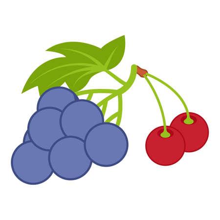 Berry harvest icon, isometric style