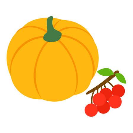 Autumn harvest icon, isometric style