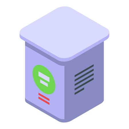 Farm sugar box icon, isometric style Vecteurs
