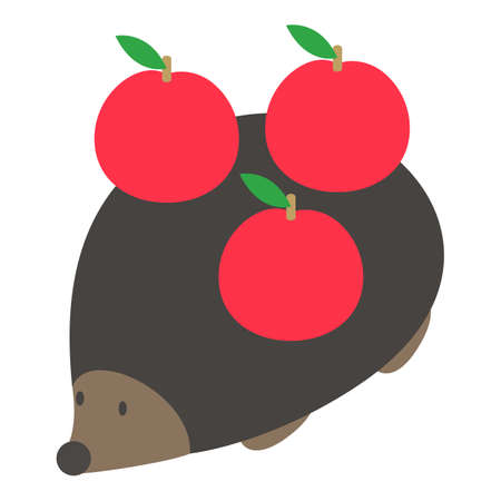 European hedgehog icon, isometric style Ilustração