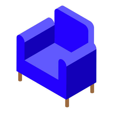 Soft hospital armchair icon, isometric style