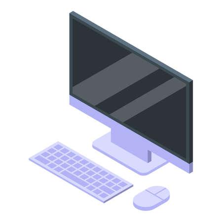 Digital detoxing home computer icon, isometric style Illusztráció