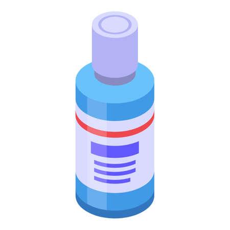 Bottle disinfection icon, isometric style