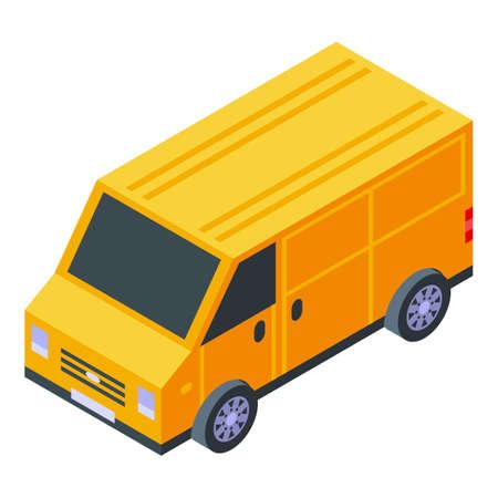Truck home delivery icon, isometric style Illusztráció