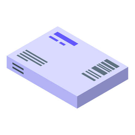 Parcel delivery icon, isometric style