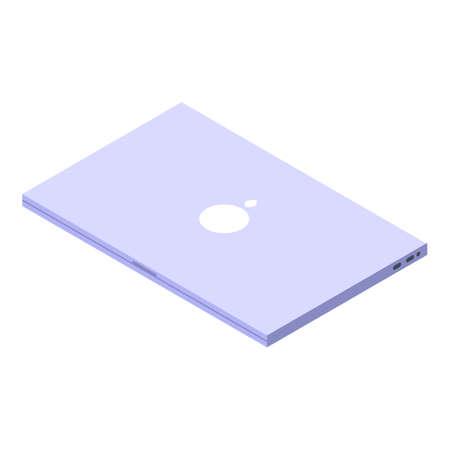 Digital detoxing laptop icon, isometric style Illusztráció
