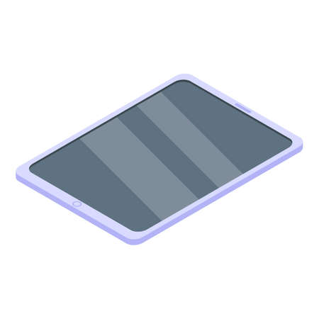Digital detoxing tablet icon, isometric style