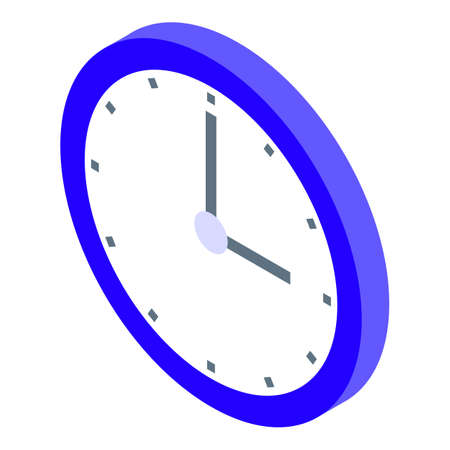 Time home delivery icon, isometric style Illusztráció