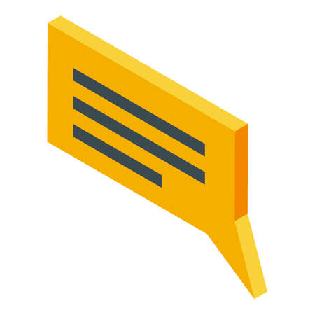 Home delivery chat icon, isometric style