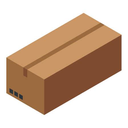 Home delivery parcel icon, isometric style Illusztráció