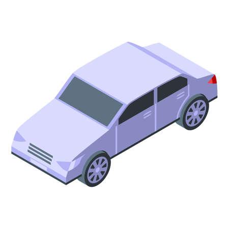 Car home delivery icon, isometric style Illusztráció