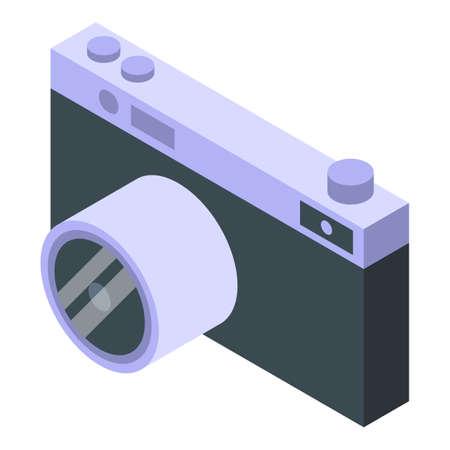 Self-care camera icon, isometric style Illusztráció