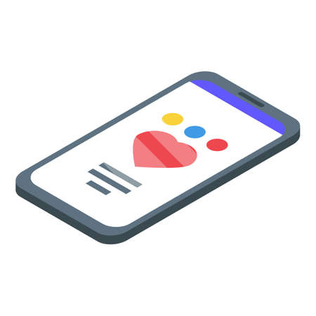 Self-care smartphone icon, isometric style