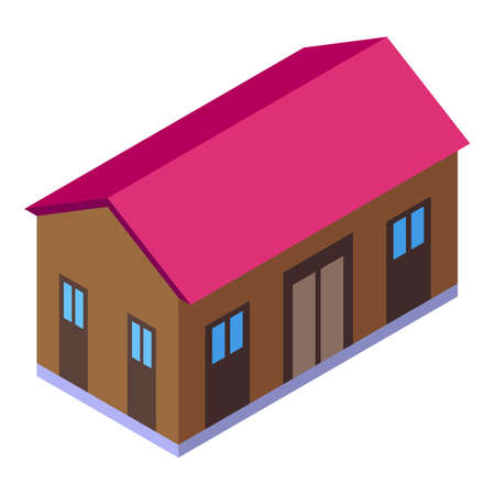 Home delivery icon, isometric style
