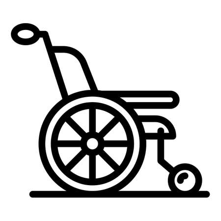 Medical wheelchair icon, outline style