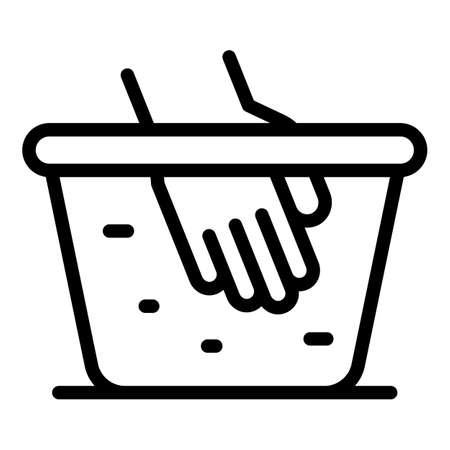 Washing softener basin icon, outline style