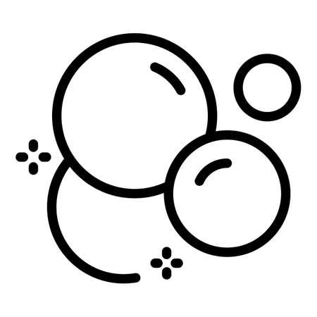 Wash bubbles icon, outline style