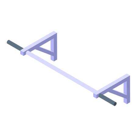 Home training icon, isometric style Illustration