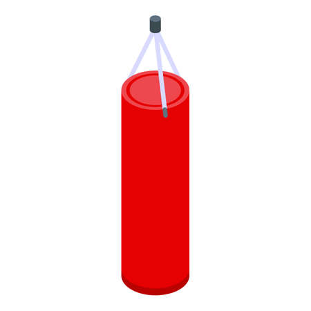 Home training punch bag icon, isometric style
