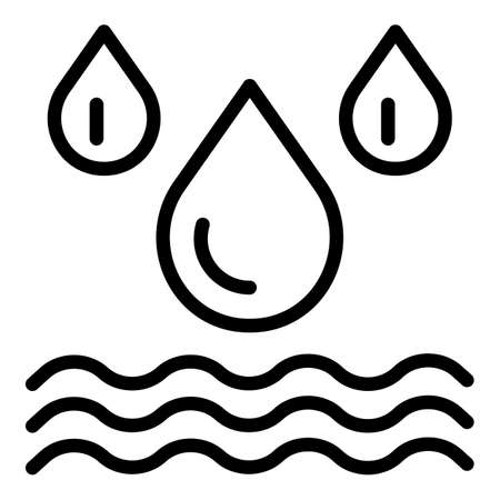 Water disinfection icon, outline style Stock Illustratie