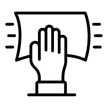 Cleaning cloth icon, outline style