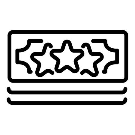 Bonus cash money icon, outline style