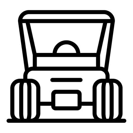 Golf transport icon, outline style