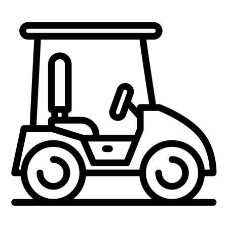 Caddy icon, outline style
