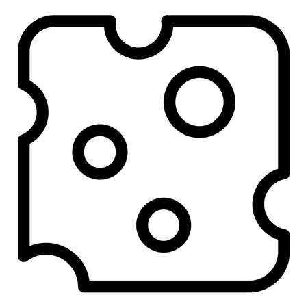 Sliced cheese icon, outline style