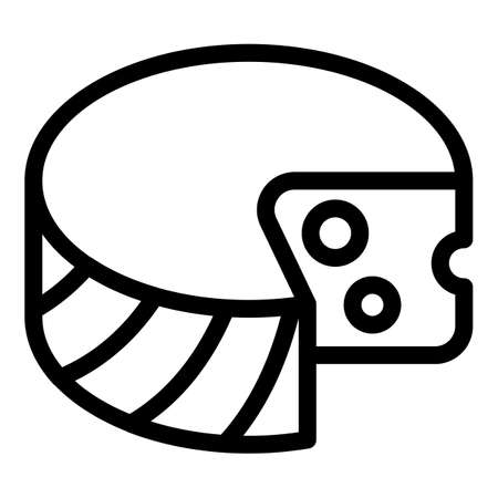 Greek cheese icon, outline style