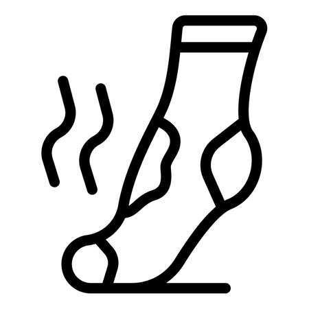 Dirty sock icon, outline style