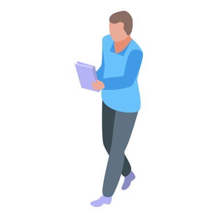 Outsource papers icon, isometric style Illustration