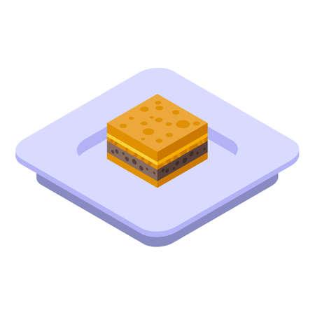 Cake icon, isometric style