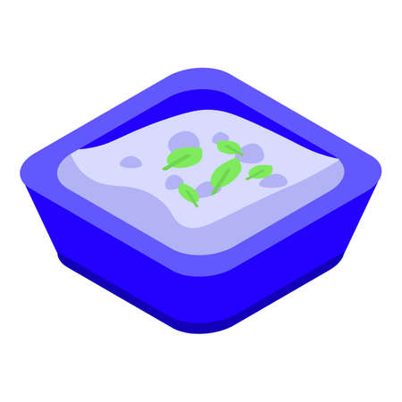 Greek white cheese icon, isometric style Иллюстрация