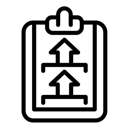 Mark clipboard certificate icon, outline style