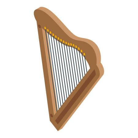 Greek harp icon, isometric style Stock Illustratie