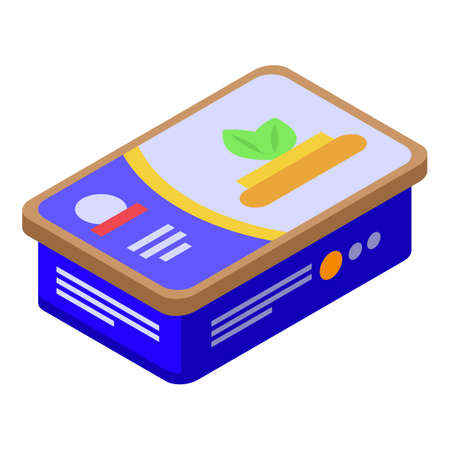 Cheese butter icon, isometric style Иллюстрация