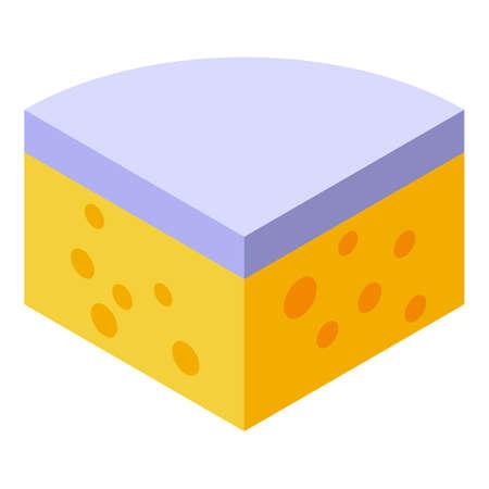 Gouda cheese icon, isometric style 向量圖像