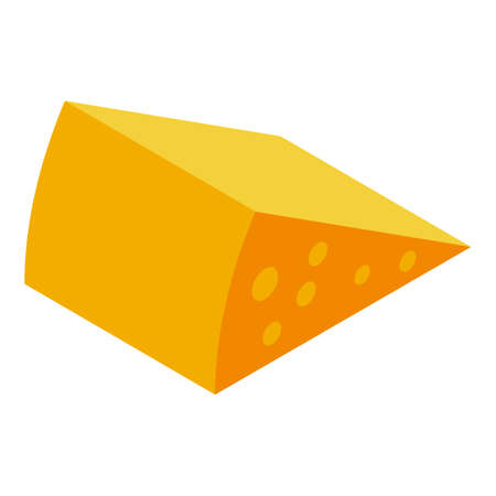 Parmesan cheese icon, isometric style Иллюстрация