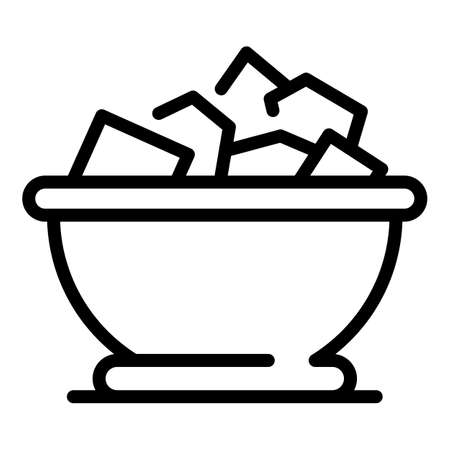 Greek fresh salad icon, outline style