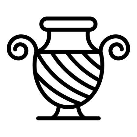 Greek ancient vase icon, outline style