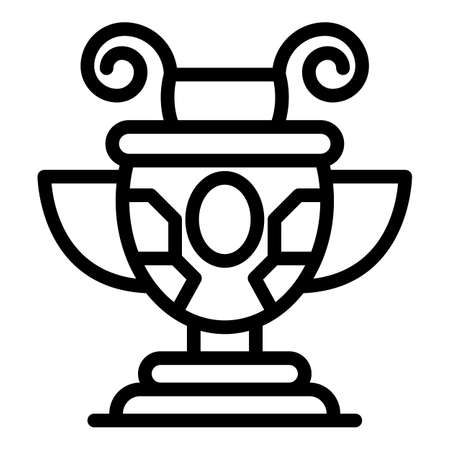 Greece ancient vase icon, outline style Vectores