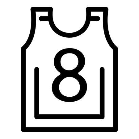 Hurling player vest icon, outline style