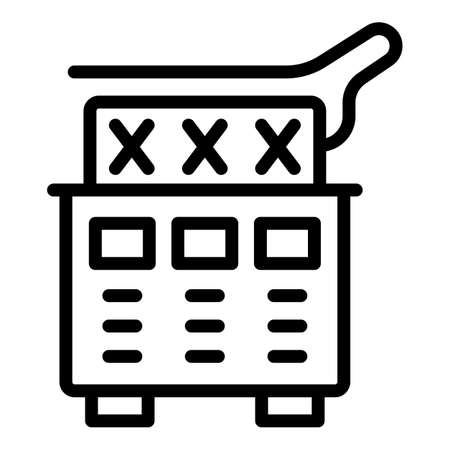 Food deep fryer icon, outline style
