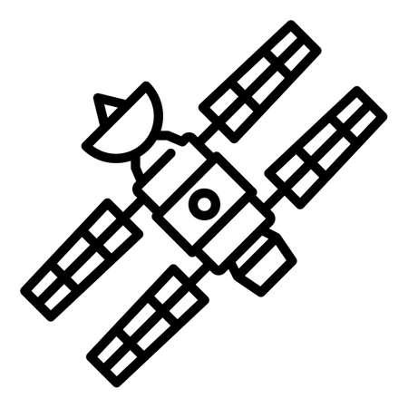 Spacecraft icon, outline style Illusztráció