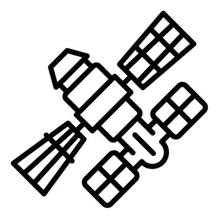 Galaxy space station icon, outline style