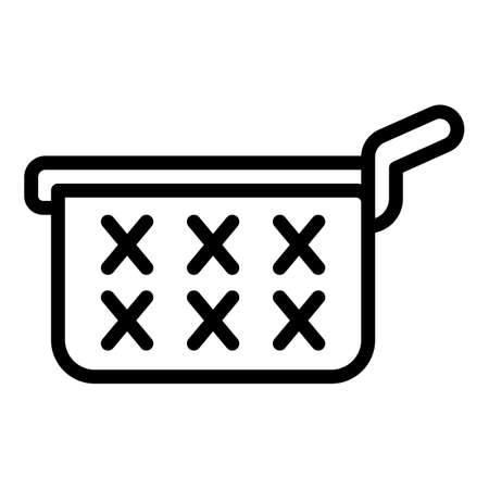 Net deep fryer icon, outline style