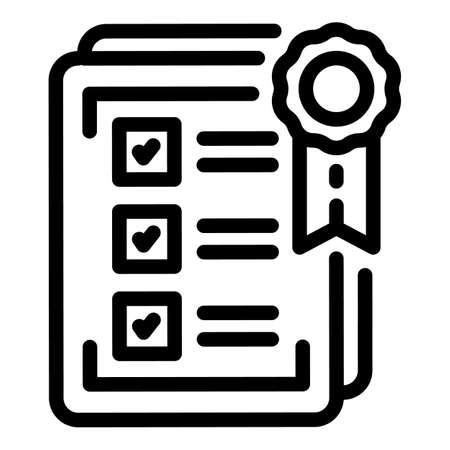 Standard paper icon, outline style Ilustração