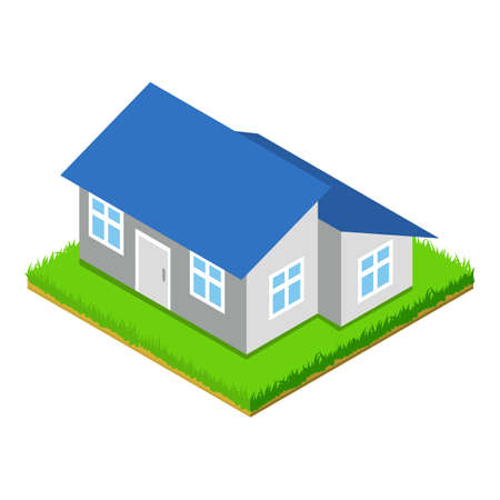 Extension house icon, isometric style